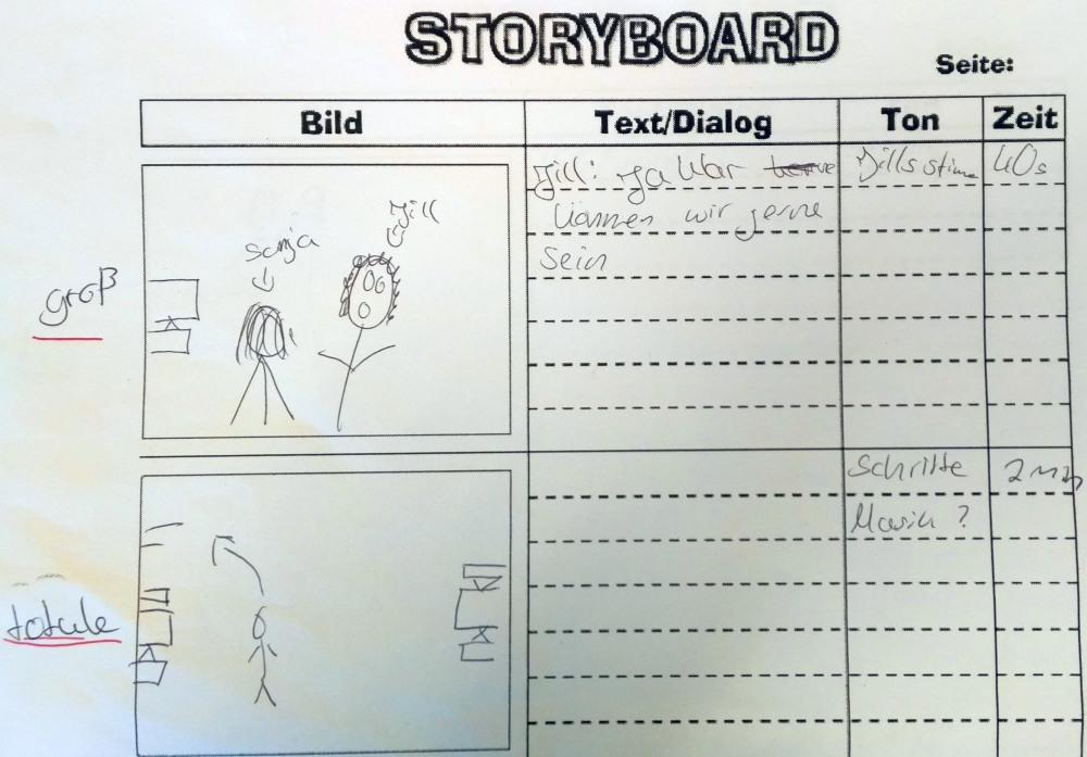 "Storyboard ""Die Moor-Freundschaft"""