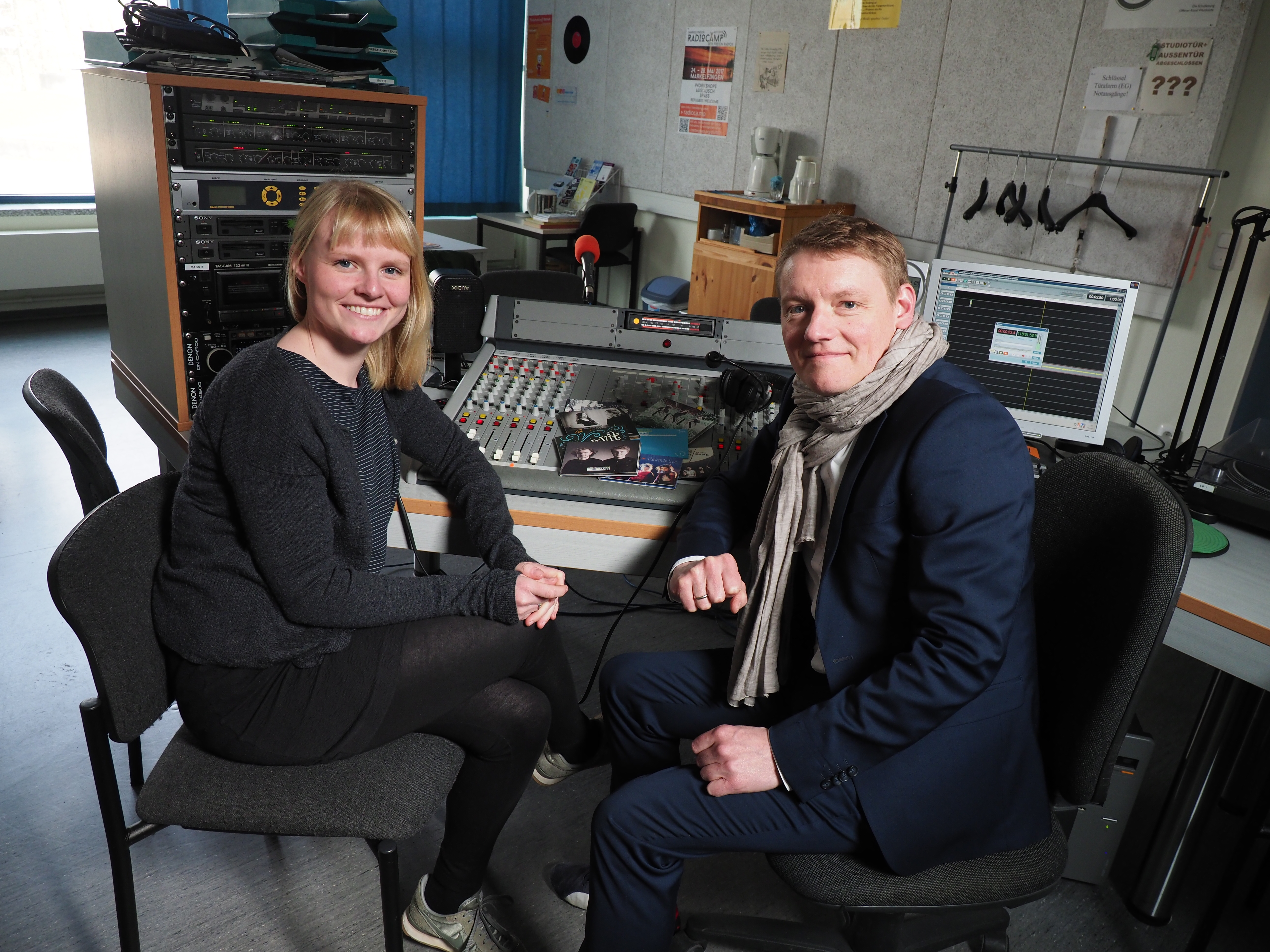 Elsiabeth Kose und Harald Haugaard im OK Studio Husum
