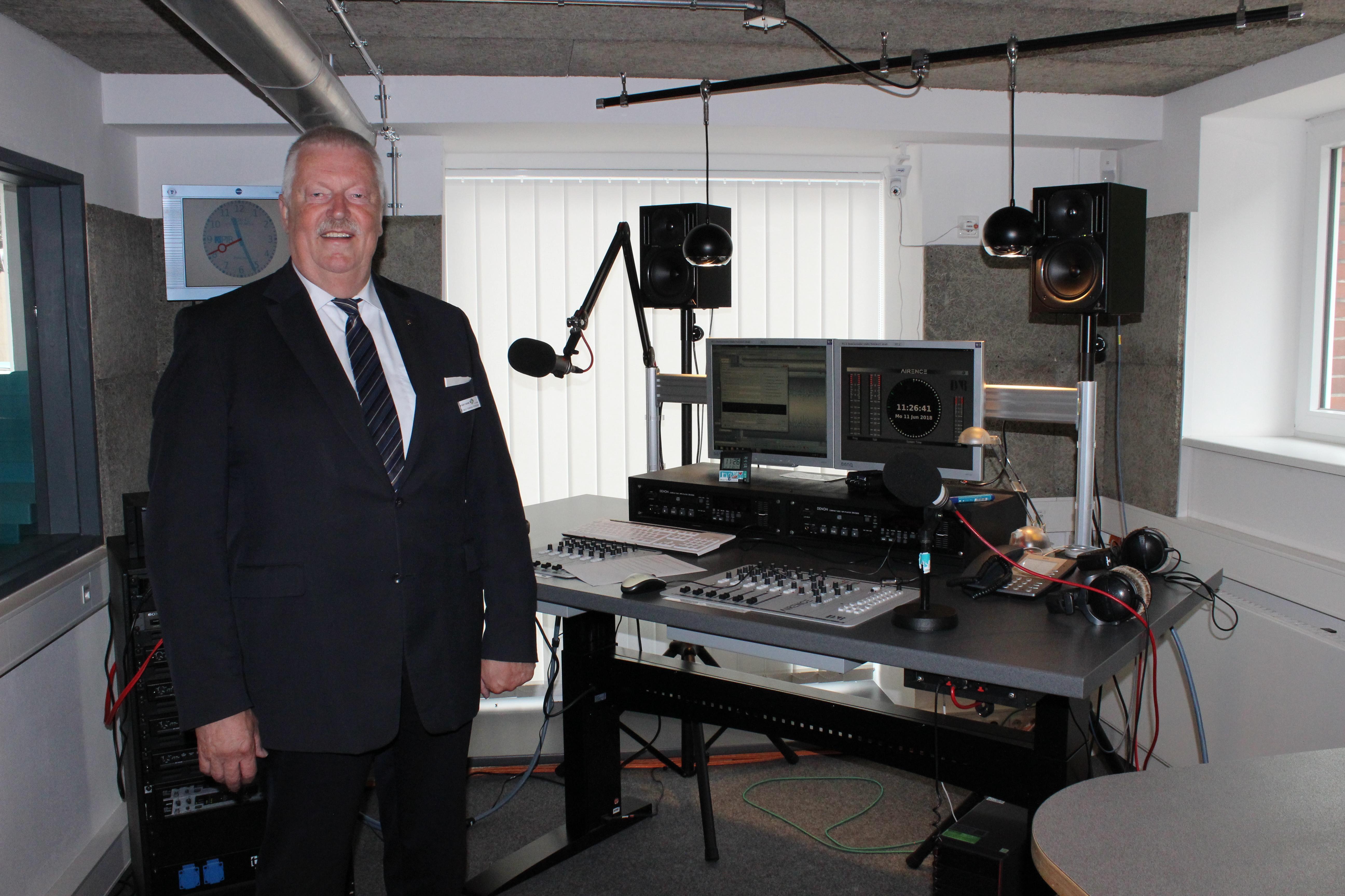 Franz Helmut Pohlmann im OK Studio