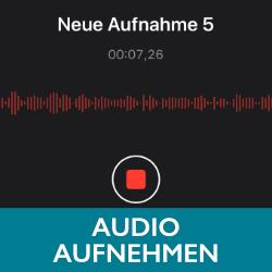 Schaltfläche Audio aufnehmen