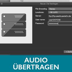Schaltfläche Audio übertragen